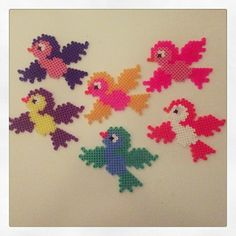 Birds hama perler beads by bettie72