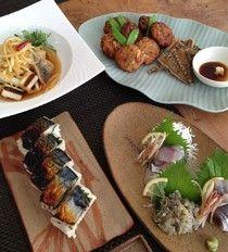 お魚マスターコース  鯵はお造り、タタキ、南蛮漬け、薩摩揚げ、骨せんべい、焼き鯖寿司に。