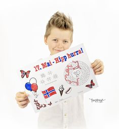 Constitution Day, May 17, Activity Sheets, Free Prints, Playing Cards, Activities, Norway, Playing Card Games, Game Cards