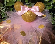 Minnie Mouse Centerpiece/Minnie Mouse Birthday birthday Minnie mouse pink and gold/Minnie baby shower decorations/Minnie favors Minnie Mouse Baby Shower, Minnie Mouse Pink, Minnie Mouse Party, Mouse Parties, Pink And Gold Birthday Party, Baby Girl 1st Birthday, 2nd Birthday Parties, Birthday Ideas, December Birthday