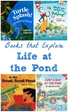 Wonderful books about life at the pond + 20 science & nature activities to do!