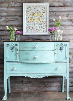 shabby chic buffet chalky finish paints