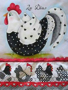 Quilt Block Patterns, Applique Patterns, Applique Designs, Chicken Crafts, Chicken Art, Wool Applique, Applique Quilts, Tole Painting, Fabric Painting