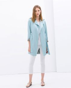 SOFT TRENCH COAT by Zara. Love the color, gives a lil' something extra to a normal trench