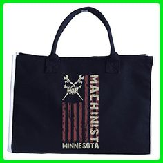 Machinist American Machinist Minnesota Machinist - Tote Bag - Top handle bags (*Amazon Partner-Link)