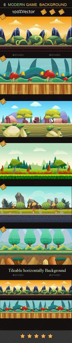 ◺ [Get Nulled]◍ 6 Modern Game Background App Flash Bg Game Game Assets Game Design Landscape 2d Game Background, Cartoon Background, Animation Background, Word Games For Kids, Games For Teens, Game Character Design, Game Design, Powerpoint Game Templates, 2d Game Art