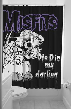 Misfits 'Die Die My darling' shower curtain