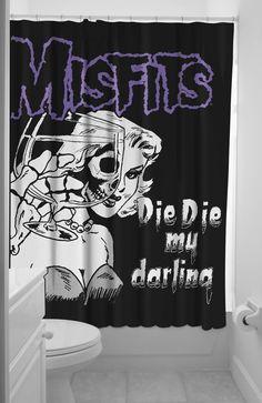 Misfits 'Die Die My darling' shower curtain