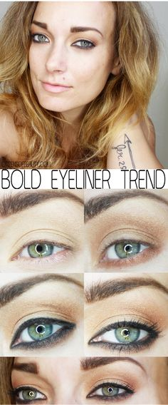 Fall 2014 Makeup Trend: Bold Eyeliner #EOTD #fall2014 #eyes #greeneyes #eyeliner #janeiredale #anastasiabeverlyhills