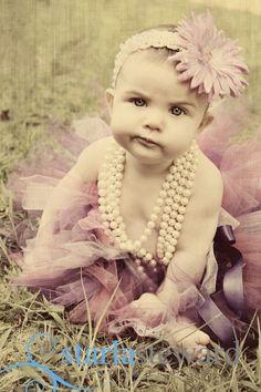 perlas, flores y tutu... me muero!