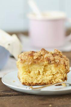 Lykkelig - mein Foodblog: Eine kleine neue Kuchen-Entdeckung: Coffee-Cake mit Birne und Zimt.