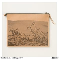 Giraffes in the wild travel pouch