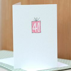 Personalised 'Birthday Present' Handmade Card