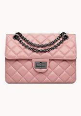 #Designer Classic Fashion Flap Shoulder Bag Lambskin Leather Pink