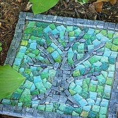 DIY Mosaic stepping stones by jerri