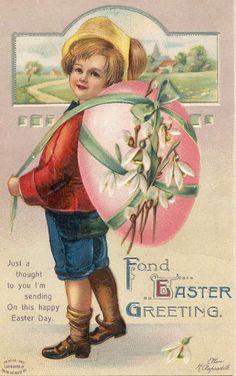 vintagepostcard.quenalbertini2: Easter Card