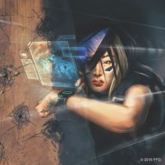 Art by Aurore Folny from 23 Seconds the first Data Pack of the upcoming Flashpoint Cycle for Android: # Netrunner. More info in the article just posted to our website. by fantasyflightgames