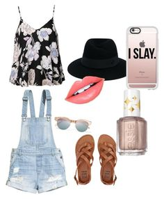 """""""Untitled #31"""" by hlh14 on Polyvore featuring Ally Fashion, H&M, Billabong, Maison Michel, Casetify, Le Specs, Fiebiger and Essie"""