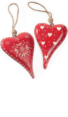 Large handpainted wooden hanging heart
