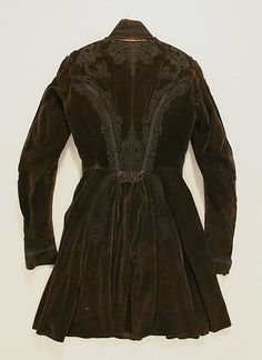 1815 military style inspired coat (back view), Eastern European, The Metropolitan Museum of Art C.I.39.13.26
