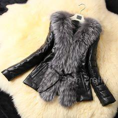 Fashion Black Mini Grids Faux Fur Waistcoat Gilet Warm Sleeveless Outerwear Vest Leather Outcoat - BornPrettyStore.com