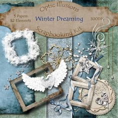 Digital Scrapbooking Kit  WINTER DREAMING  5 by opticillusions, $4.00