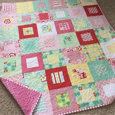 Today I thought we would show you a few of the quilts our pattern testers made from The Framed Quilt Pattern that we just released. First up is Sew Stacy Sew and her Framed Quilt. I absolutely LOVE the colors she used for the quilt–isn't it turning out to be adorable? This next one is …