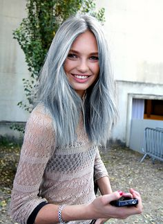 """I don't understand why, if a woman in her 20s or 30s can dye her hair grey, why can't I??? My hairdresser says """"impossible"""". Might be time for a new hairdresser."""