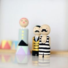 MY LITTLE CIRCUS/MEIN KLEINER ZIRKUS - Small wooden circus figures, DIY and paint them yourself – a unique product by foxella-and-friends. Via en.DaWanda.com.