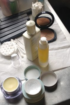 Behind the scenes at @Markus Lupfer   #LFW #LizEarle
