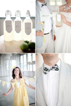 love the lemonade favor ideas! perfect for a summer wedding with a cute old school theme