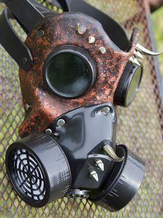 Leather art mask handmade LARP burning man steampunk goth Halloween goggles