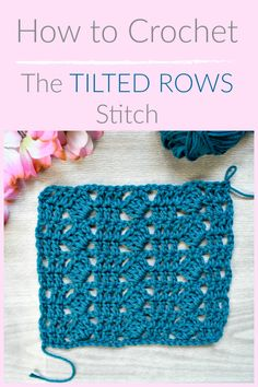 In this tutorial I am going to show you how to crochet the Tilted Rows Stitch. One of my favorite things to do is look Knit Or Crochet, Learn To Crochet, Free Crochet, Crochet Humor, Crochet Mandala, Crochet Afghans, Crochet Blankets, Double Crochet, Crochet Stitches Patterns