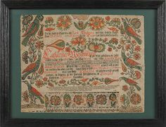 Ephrata Cloister printed and hand colored fraktur birth certificate, dated 1784