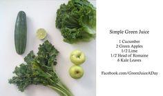 http://www.greenjuiceaday.com  Basic Green Juice Recipe