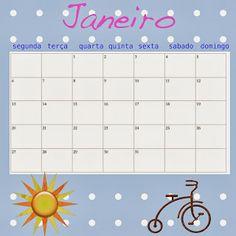Calendário 2014 semanal para impressão. Use um calendário familiar exposto em sua casa, para compromissos em comum.