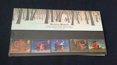 Royal mail stamps Magical Worlds Classic Fantasy books For Children stamp presentation pack No 289 by brianspastimes on Etsy