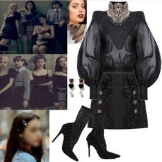 Pink Fashion, Goth, Kpop, Concert, Outfits, Black, Instagram, Style, Gothic