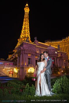 Las Vegas Wedding Photographers, Exceed Photography, Las Vegas Wedding Strip Photo Tour, Vegas Wedding Photos, Paris Las Vegas
