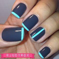 2017 best simple easy nail art ideas | blue | ocean | color combo | short gel polish