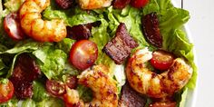 This low-carb Shrimp BLT Salad #recipe is exactly what you need.