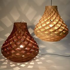 Workshopped - WEAVE PENDANT LAMPS by Edward Linacre
