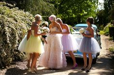 Bridesmaids dresses in tule and colours :)