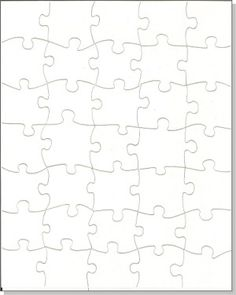 Diy Blank Puzzle (8 X 10) - 35 Piece Diy Puzzle - Set Of 8