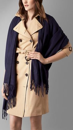 Burberry Embroidered Cashmere Stole
