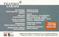 Más información: http://teatrociego.org/inodoro-pereyra/