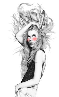 Ilustración de moda por Minni Havas