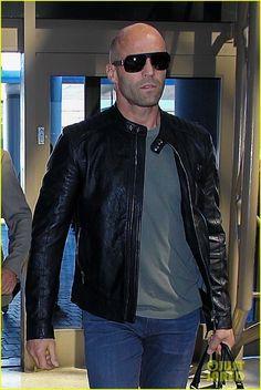 Jason Statham wearing MYKITA & BERNHARD WILLHELM sunglasses XAVER in Los Angeles. https://mykita.com/bernhard-willhelm/xaver/f25-mattblack-grey-flash-cat3