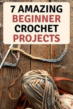7 amazing crochet patterns for beginners. Hats, scrafts, blankets slippers and more. Crochet for yourself or give as gifts. 7 amazing crochet patterns for beginners. Hats, scrafts, blankets slippers and more. Crochet for yourself or give as gifts. Crochet Stitches For Beginners, Beginner Crochet Projects, Crochet Basics, Crochet Blanket Patterns, Knitting Patterns, Crochet Ideas, Crotchet For Beginners, Beginner Crochet Patterns, Crochet Tutorials