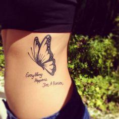 Butterfly quote tattoo, butterfly tattoo designs, tattoo designs for gi Butterfly Quote Tattoo, Butterfly Tattoo Meaning, Butterfly Tattoo On Shoulder, Butterfly Tattoos For Women, Butterfly Tattoo Designs, Tattoo Designs For Girls, Butterfly Drawing, Foot Tattoos, New Tattoos